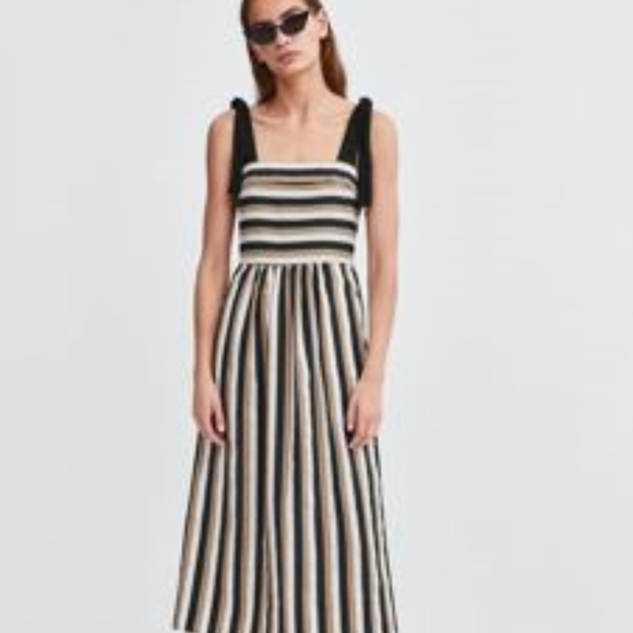 31a1ab9b Zara Dresses | Womens Striped Midi Dress M Nwt | Poshmark